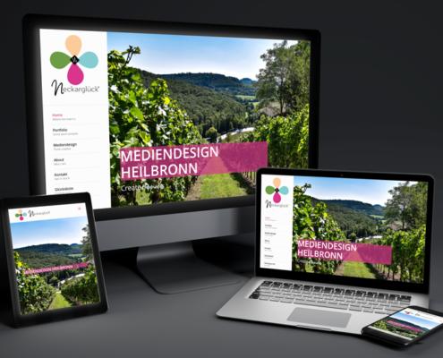 Webdesign IT-Dienstleistungen Heilbronn Neckarglueck Mockup